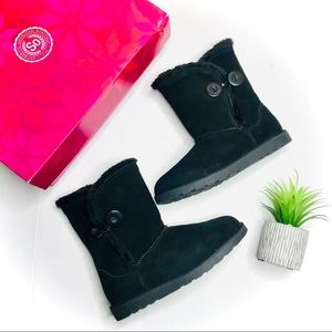 SO Genuine Suede Leather Faux Fur Lined Boots